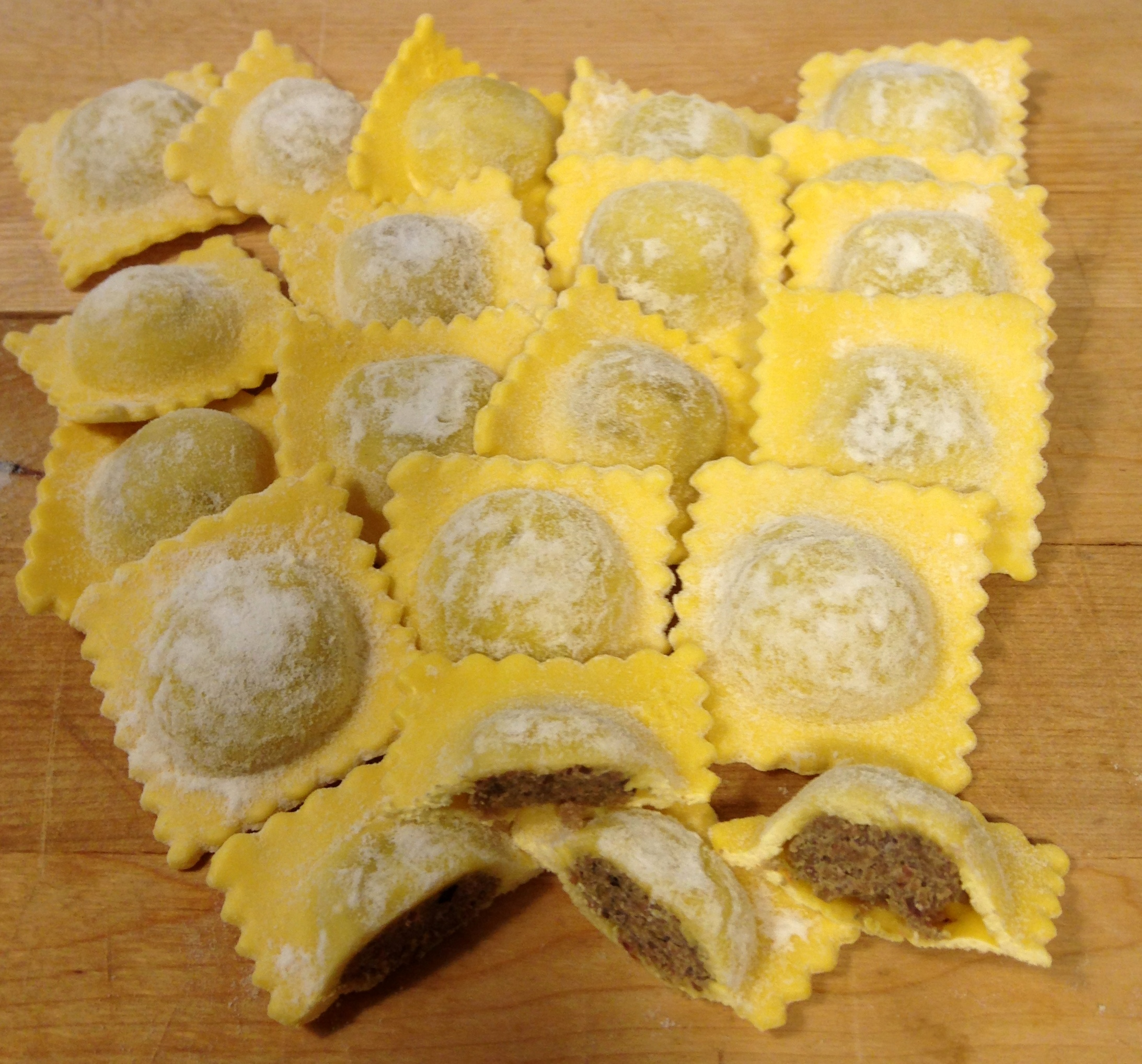 Pasta dough with butter 'di grasso' – for agnolotti with meat