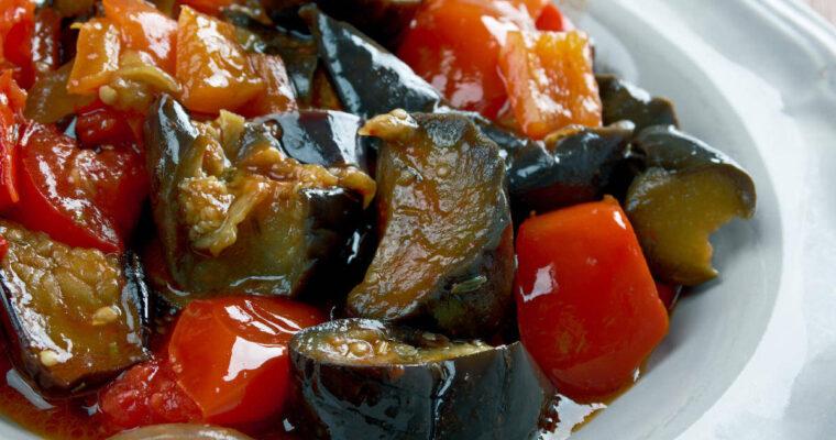 Traditional Italian eggplant caponata