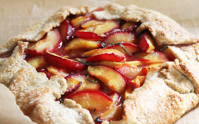 Fruit filled crostata