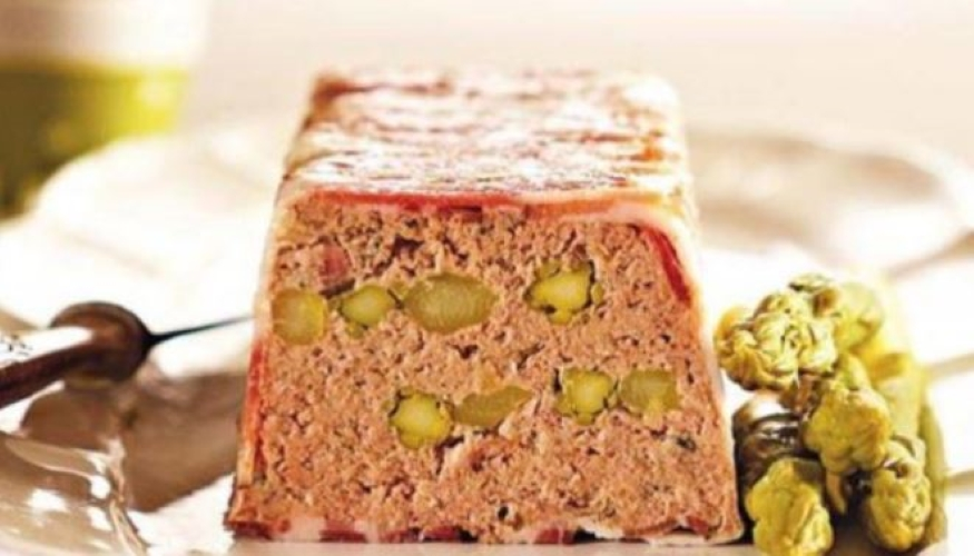 terrine of pork and asparagus