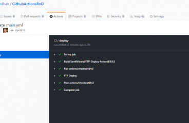 9 – GitHub Actions Tutorial – CI / CD – Deploy Static files using FTP