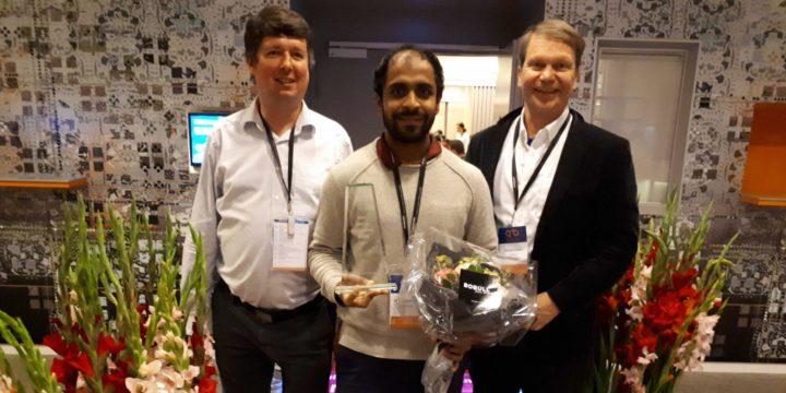 Omkar Mohite won the best poster presentation at the DTU Biosustain Annual Seminar in Copenhagen, Denmark