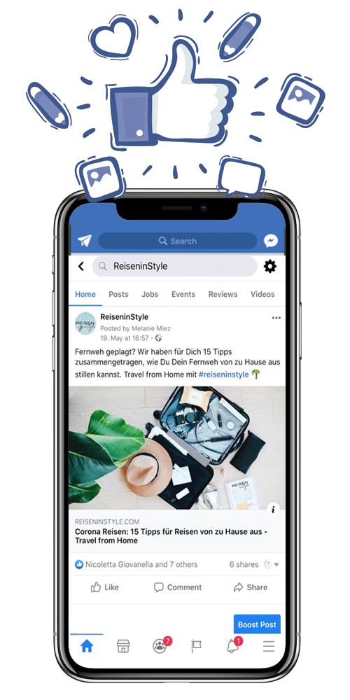 Facbook Marketing Agentur barefoot Communications