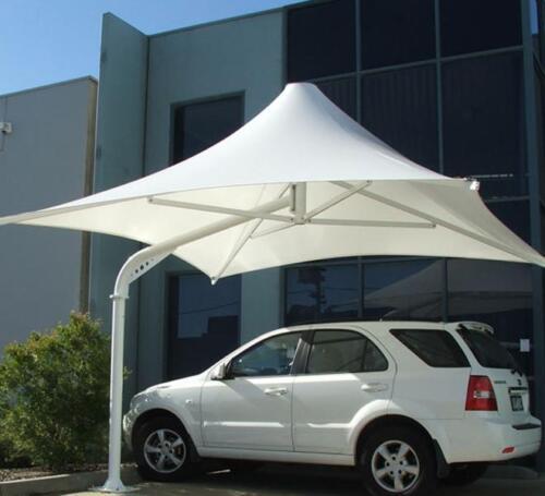 Umbrella tyle Carparking shed