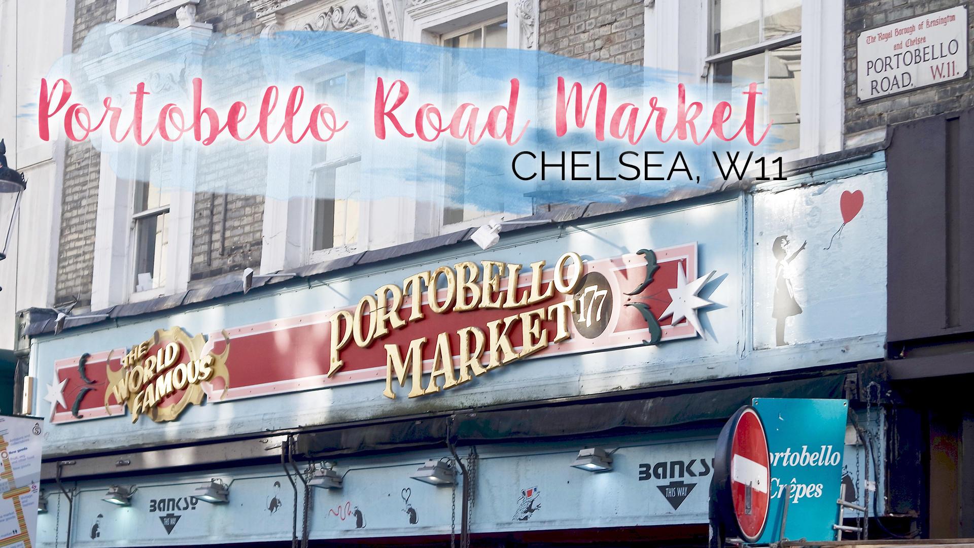 Saturday Mornings at Portobello Road Market, Chelsea |