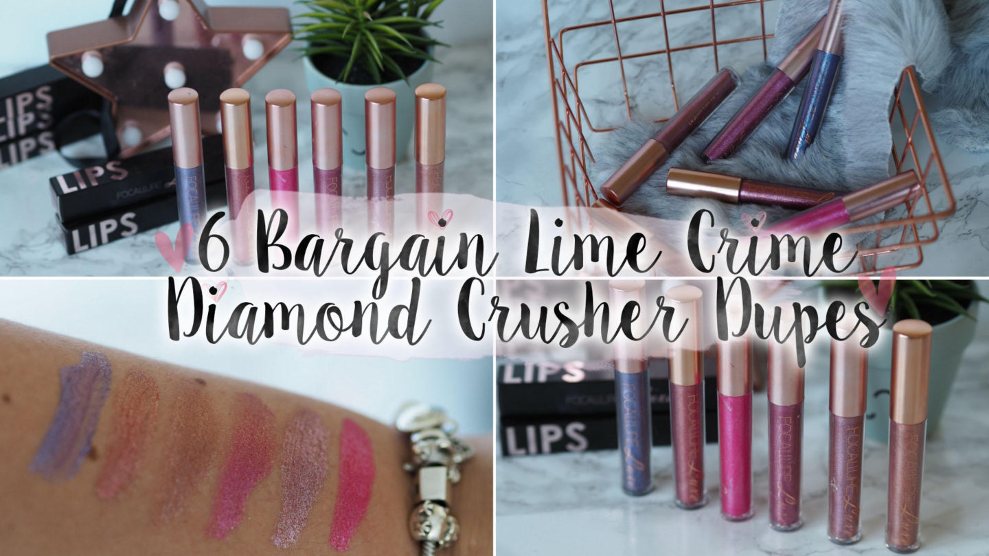 6 Bargain Lime Crime Diamond Crusher Dupes || Beauty