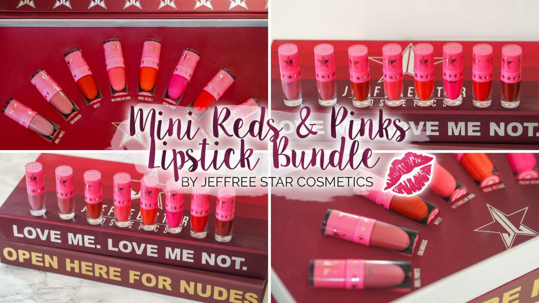 Jeffree Star Cosmetics Mini Reds & Pinks Lipstick Bundle || Beauty