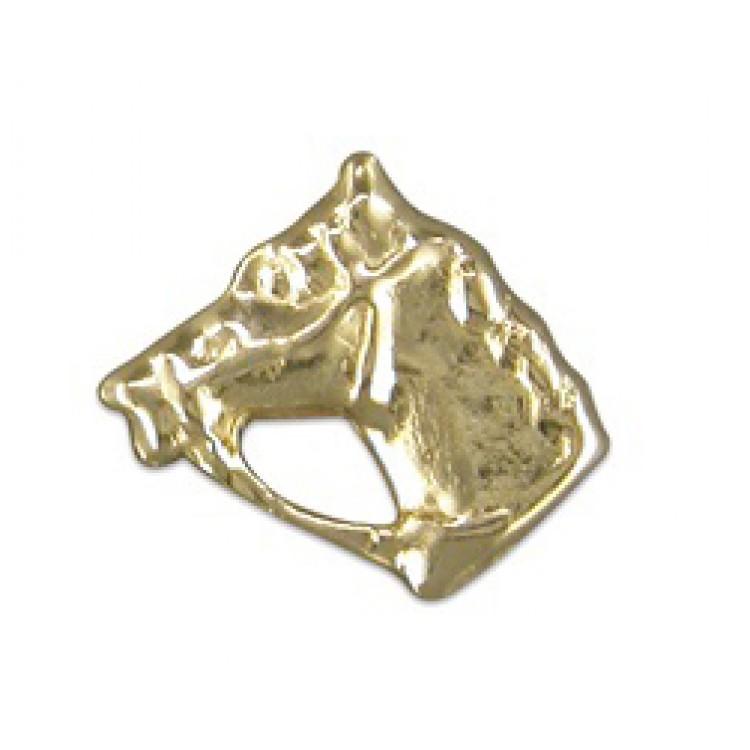 Mens gold horsehead stud 5mm