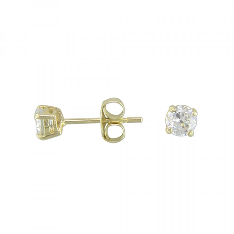 Mens cast cubic zirconia stud 3mm