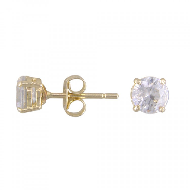 Mens cast cubic zirconia stud 4mm