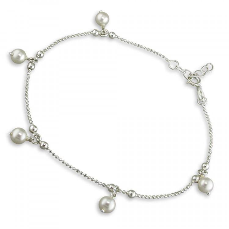 22.5-25cm-8.5-10in in simulated pearl drop beads