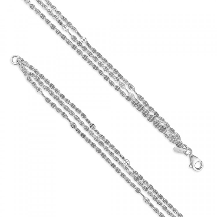 19cm/7.5in triple strend diamond cut leaf clovers
