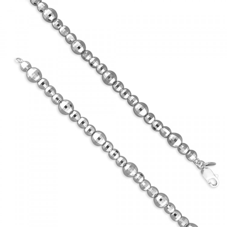 19cm/7.5in fancy diamond cut beads