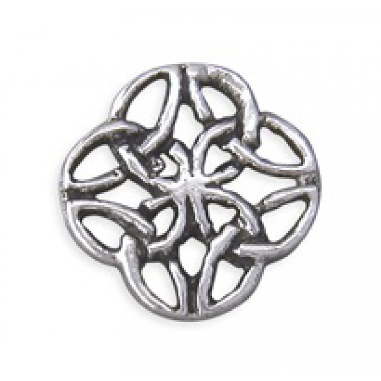 Mens Celtic rounded square stud 5mm