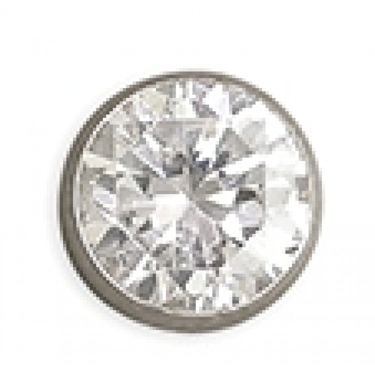 Mens white gold cubic zirconia stud 6mm
