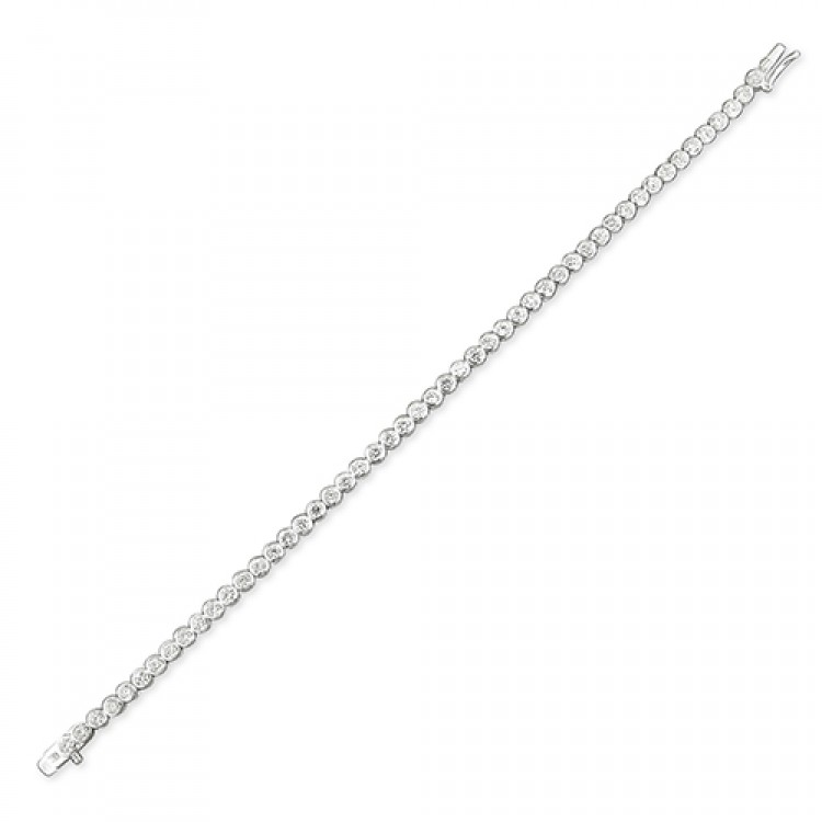 19cm/7.5in claw set cubic zirconia tennis