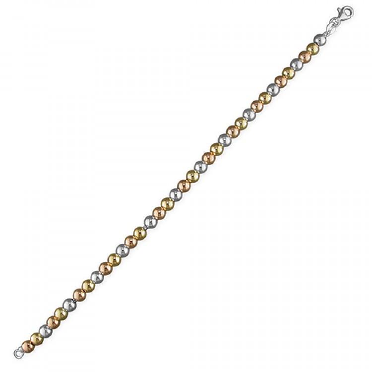 18.5cm/7.25in graduated three tone beads