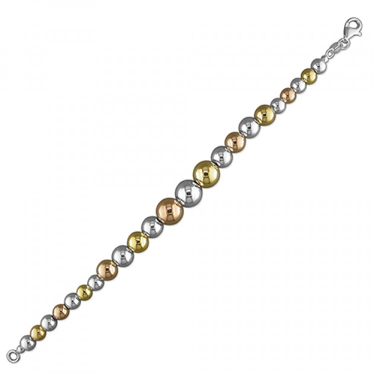 19cm/7.5in three tone beads