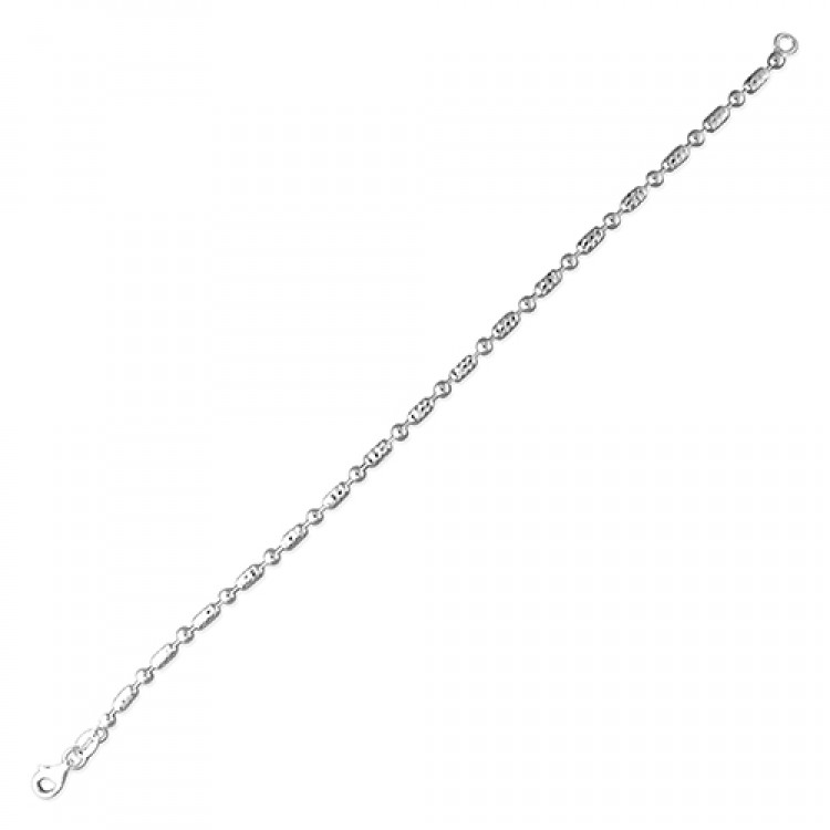 19cm/7.5in plain round and diamond-cut oval beads