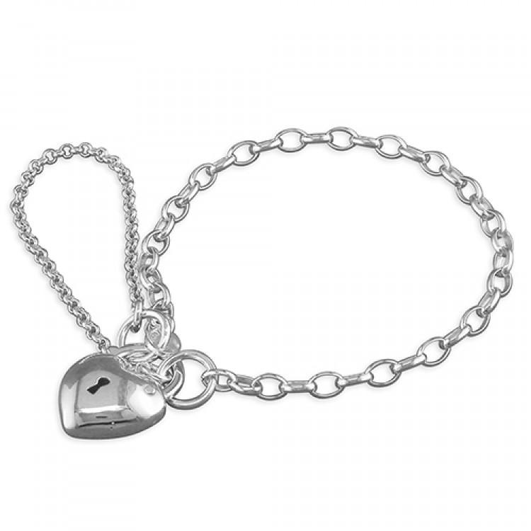 13cm/5in charm with plain heart padlock
