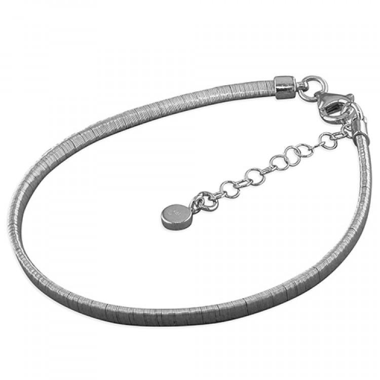 19-22cm rhodium-plated 3mm wire-wrap