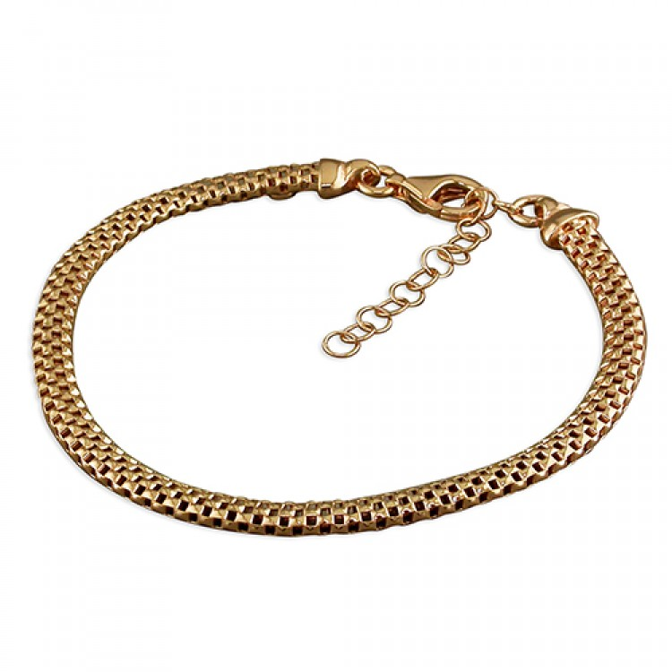 19cm large rose gold-plated oval mesh