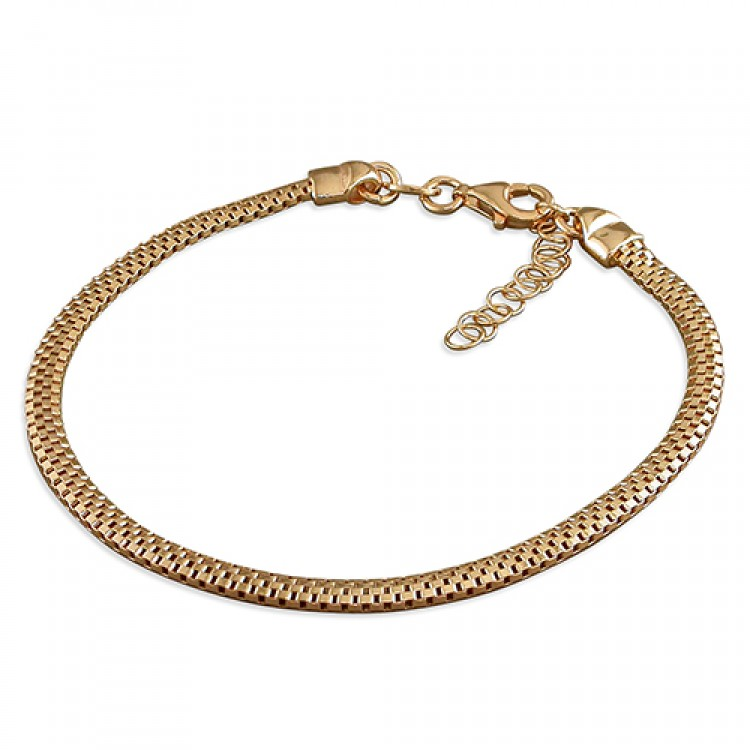19cm small rose gold-plated oval mesh