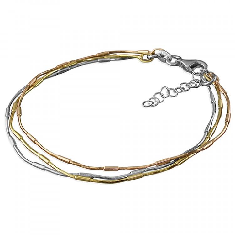 19cm 3-tone triple strand