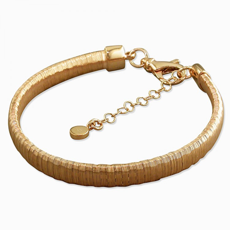 19-22cm rose gold-plated medium wire-wrap