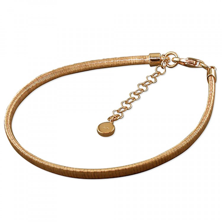 19-22cm rose gold-plated 3mm wire-wrap
