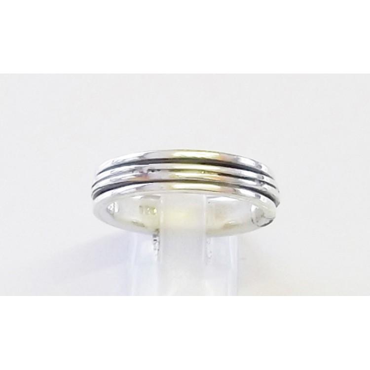 Fancy mens heavy spin ring 5mm