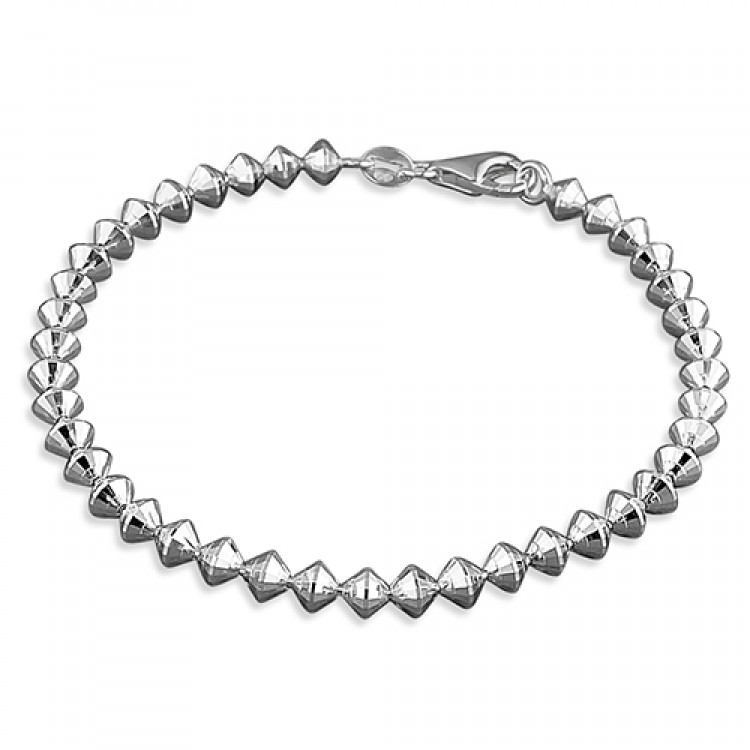 19cm/7.5in diamond cut cone beads