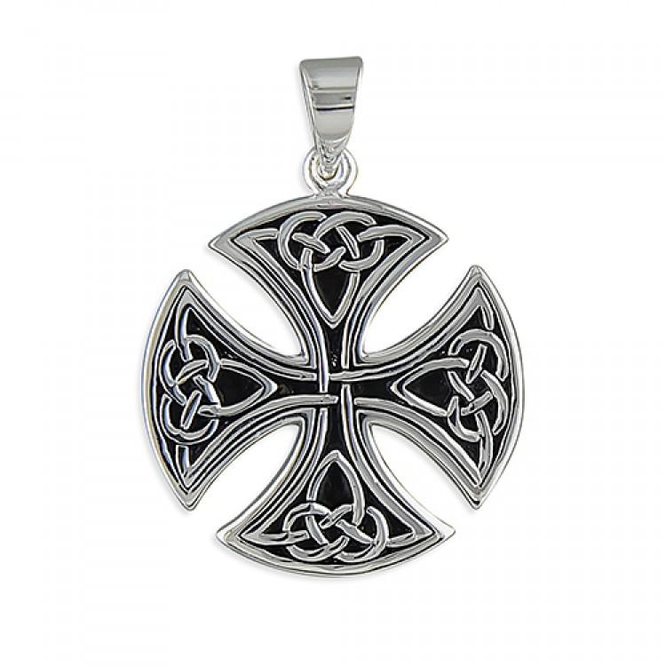 Mens large round Celtic cross
