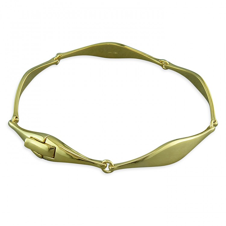 19cm gold-plated wave link