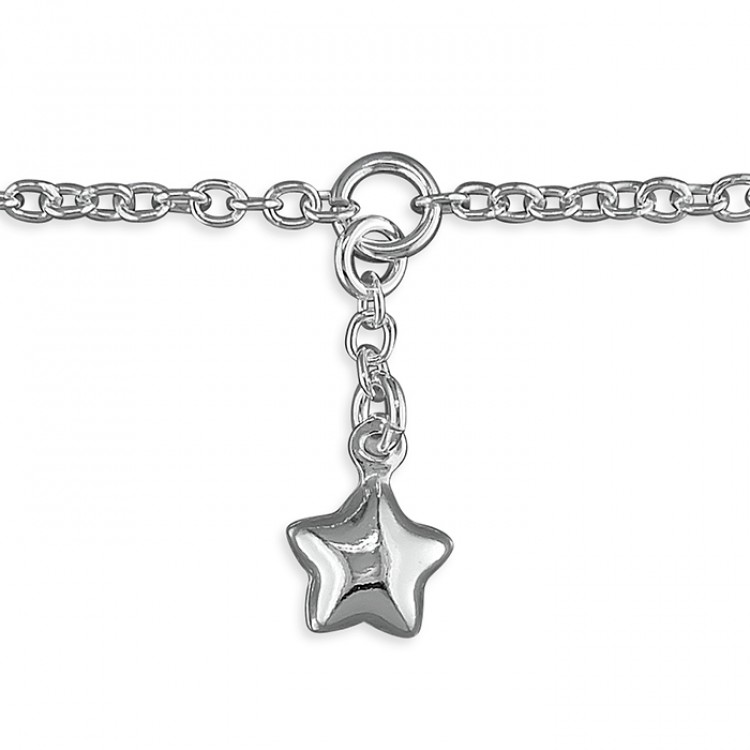 25cm star charm on chain