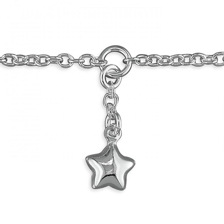 25cm star charm on chain