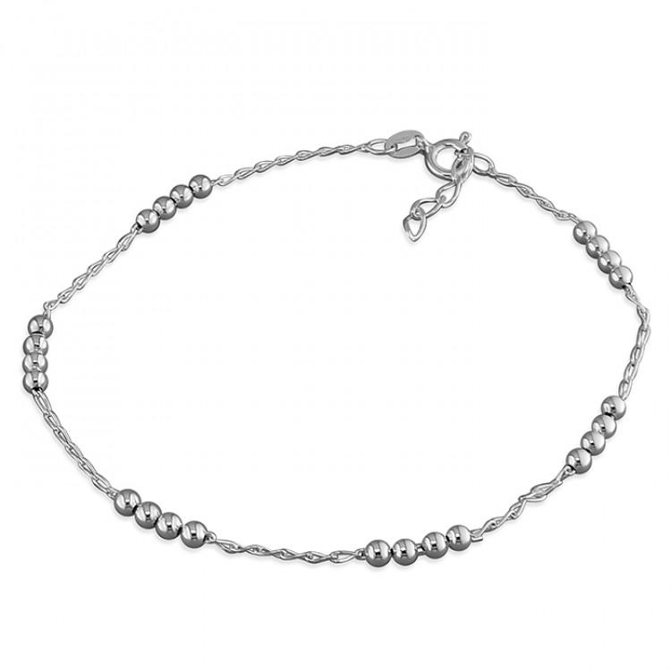 25cm diamond-cut bead stations on chain