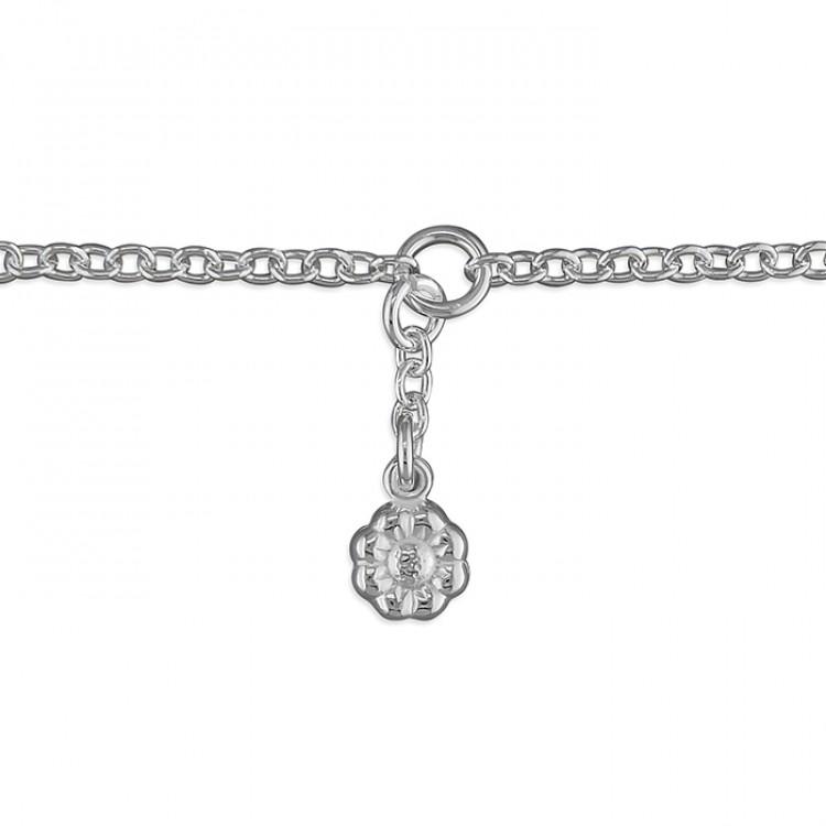 25cm flower charm on chain