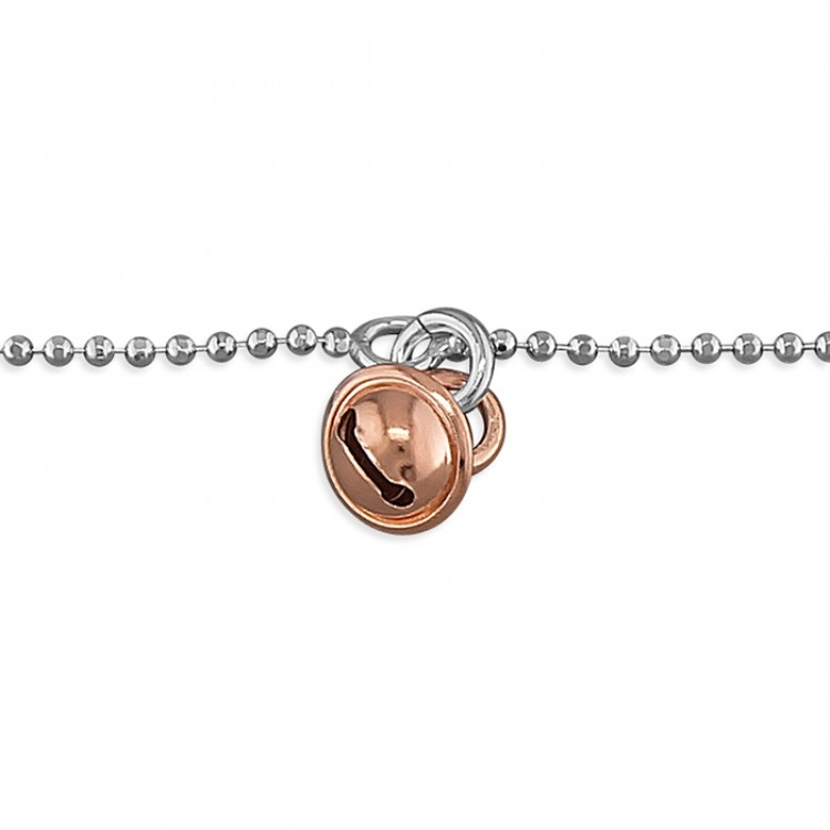 25cm rose gold-plated bell on chain