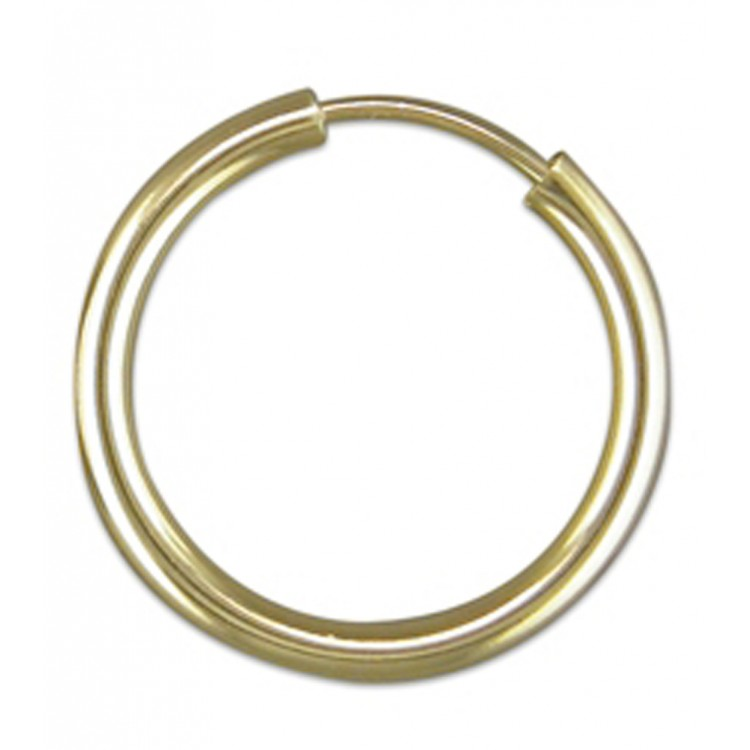 Mens gold plain sleeper 18mm