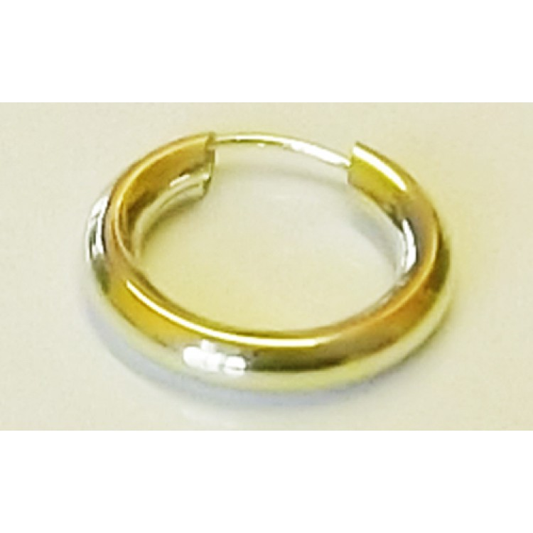 Mens gold plain chunky sleeper 16-18mm