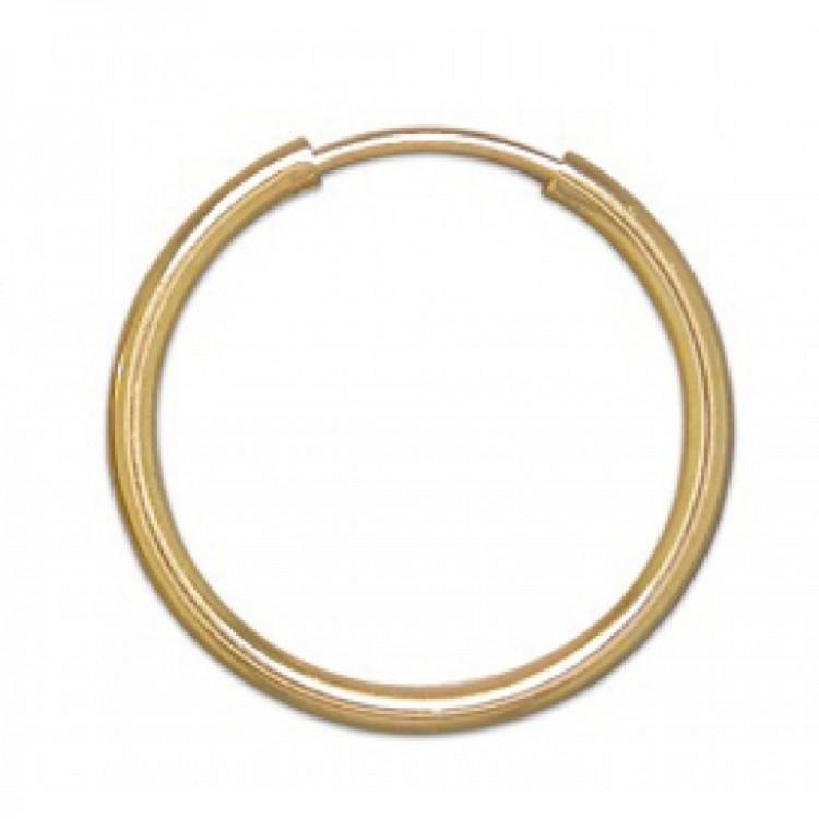Mens light single gold sleeper 14mm