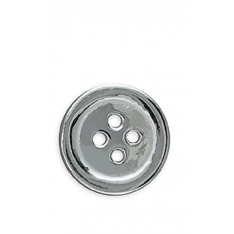 Mens flat button silver stud 10mm