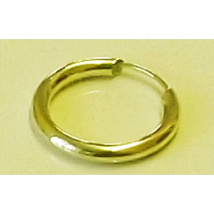 Mens plain chunky gold sleeper 15mm