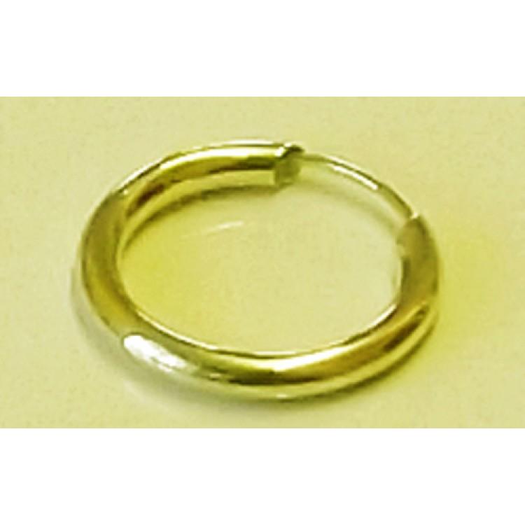 Mens plain chunky gold sleeper 15mm
