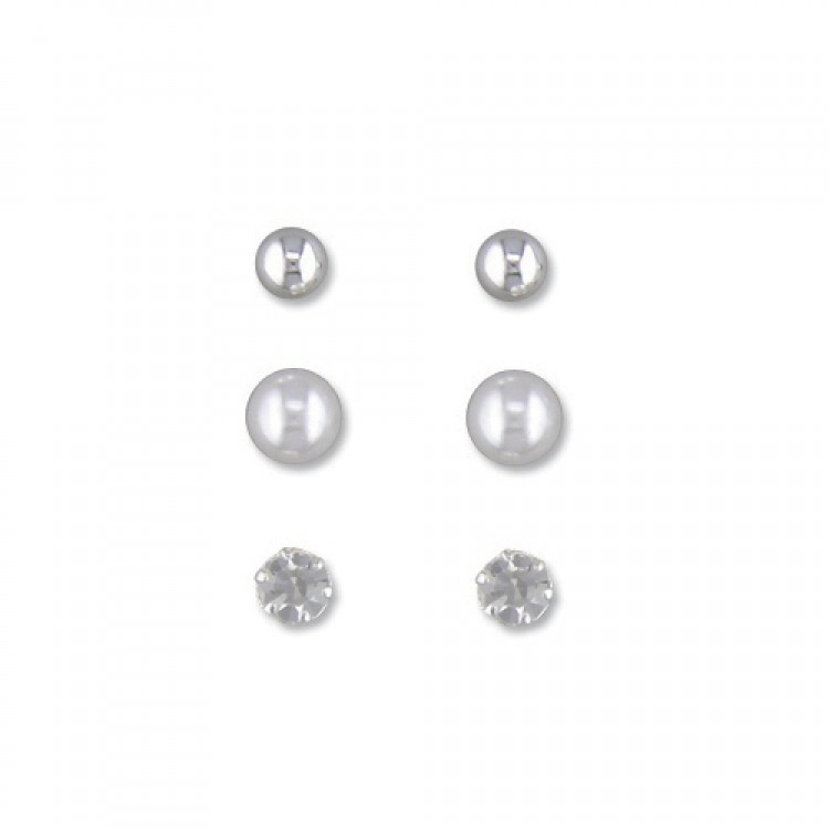 3-in-box austrian crystal,bead,simulated pearl