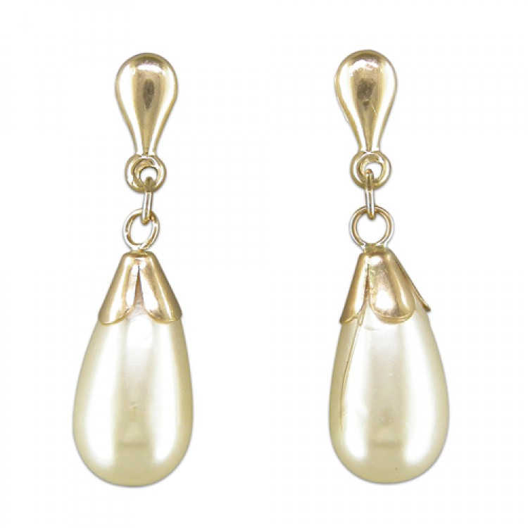 Simulated pearl teardrop drop