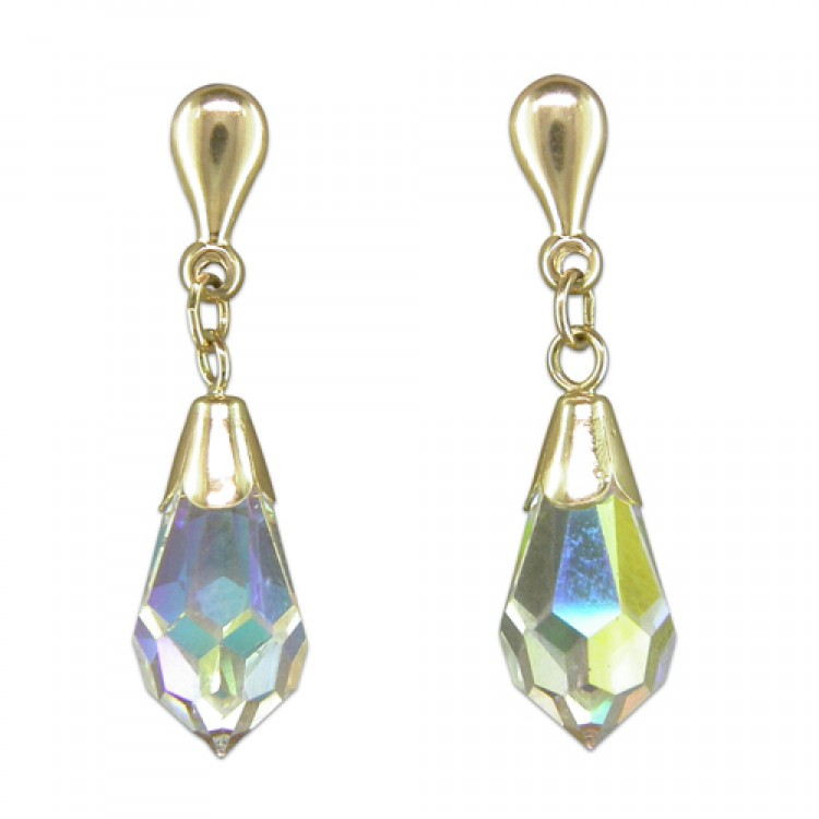 Austrian crystal facetted crystal drop