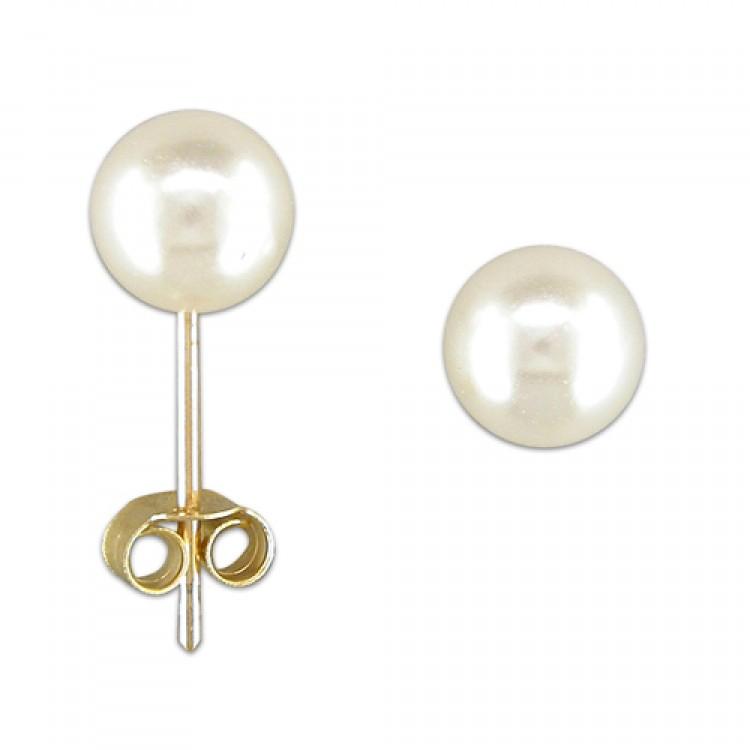 5mm simulated pearl stud