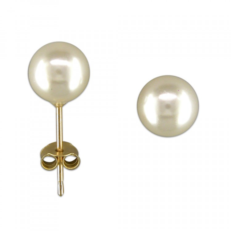6mm simulated pearl stud